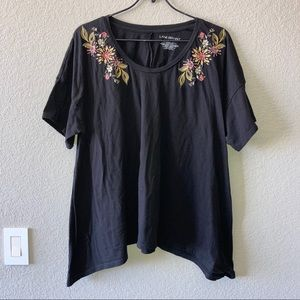 Lane Bryant Floral Embroidered Top Sz 22/24